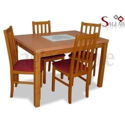 Zestaw EBRO I stół 80x120/150 + 4 krzesła