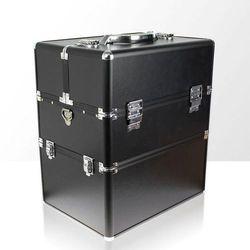 Kuferek kosmetyczny dwuczęściowy GŁADKI MATOWY czarny