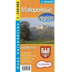 Małopolskie mapa województwa 1:250 000 Demart (opr. miękka)