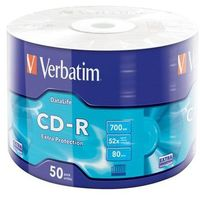 CD-R VERBATIM 700MB EXTRA PROTECTION WRAP (50 SPINDEL)