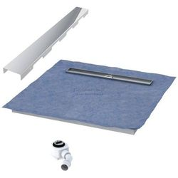 Schedpol podposadzkowa płyta prysznicowa 90x120 cm steel długi bok 10.011OLDBSL