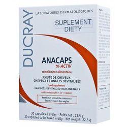 Ducray ANACAPS Tri - activ kapsułki przeciw wypadaniu włosów 30 kaps skutecznie wzmacniają włosy + 10 ml DUCRAY EXTRA DOUX Szampon Kurier: 13.75, odbiór osobisty: GRATIS!