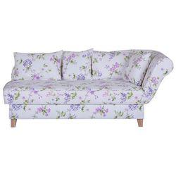 ENNIS biała sofa w kwiaty - biała w kwiaty