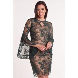 0c84c5807eb7bc sliczna zielona sukienka z koronki 44 - porównaj zanim kupisz