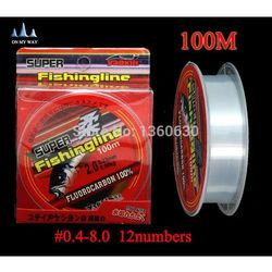 2015 new high quality Fishing Line Brand Super Strong 100m Fluorocarbon fishing line ocean boat&rock Fishing free shipping