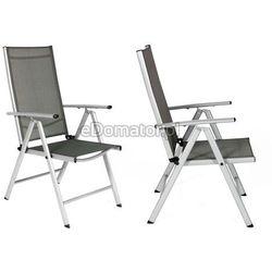 Krzesło ogrodowe aluminiowe MODENA - Srebrne