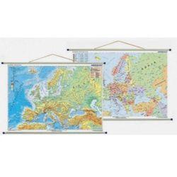 Europa mapa ścienna fizyczno-polityczna i konturowa 1:10 000 000 Demart