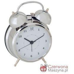 Budzik NeXtime Wake Up Silver, 12,5cm