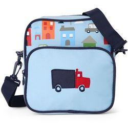 Penny Scallan Design, torba listonoszka, błękitna w autka Darmowa dostawa do sklepów SMYK