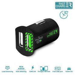 PURO Mini Car Fast Charger - Uniwersalna ładowarka samochodowa 2 x USB 2.4 A (czarny)