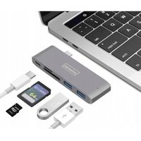 HUB 5w1 USB-C 3.1 ADAPTER do MACBOOK PRO/AIR 2x USB 3.0.SD/micro SD/Power Delivery