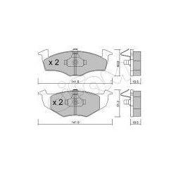 CIFAM Zestaw klocków hamulcowych, hamulce tarczowe - 822-206-1