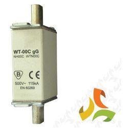 Wkładka topikowa zwłoczna gg WT-1C 80A, bezpiecznik przemysłowy ETI