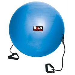 Piłka gimnastyczna ANTIBURST z gumami fitness BB 001TR 65cm