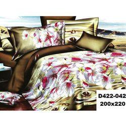 Komplet Pościeli 200x220 Pościel 4cz KWIATY 3D 042 - 042
