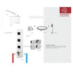 CORSAN Zestaw podtynkowy z termostatem, chrom CM-03T_25R+Hx4