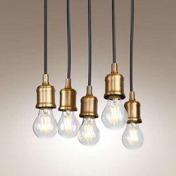 LAMPA wisząca BALOON P0178 Maxlight industrialny PRZEWÓD zwis bulbs żarówki listwa loft złoty