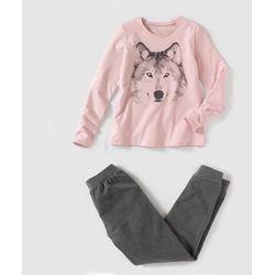Piżama z dwóch materiałów, z wilkiem, 10-16 lat