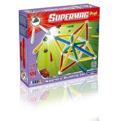 Supermag Maxi Classic, klocki magnetyczne, 44 elementy Darmowa dostawa do sklepów SMYK