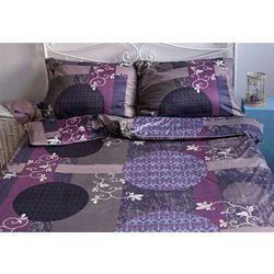 Pościel satynowa Noble Flowerin Purple 100% bawełny