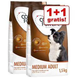 1+1 gratis! Concept for Life karma sucha dla psa, 2 x 1,5 kg - Medium Light