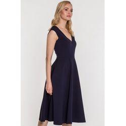 267461309b suknie sukienki sukienka lodka rozkloszowana s moriss (od ...