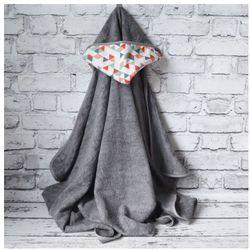 Bambusowy Ręcznik Dziecięcy z Kapturkiem, Kaleidoscope / Szary, 90x130 cm, CAMPHORA STUDIO