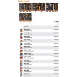 WÓZEK NARZĘDZIOWY 2400/C24SL Z ZESTAWEM NARZĘDZI, 152 ELEMENTY, MODEL 2400SL-R/VU2M, CZERWONY
