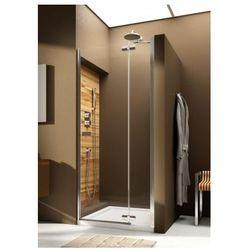 AQUAFORM VERRA LINE Drzwi wnękowe 80 prawe, profile chrom, szkło transparentne + DP Active 103-09404