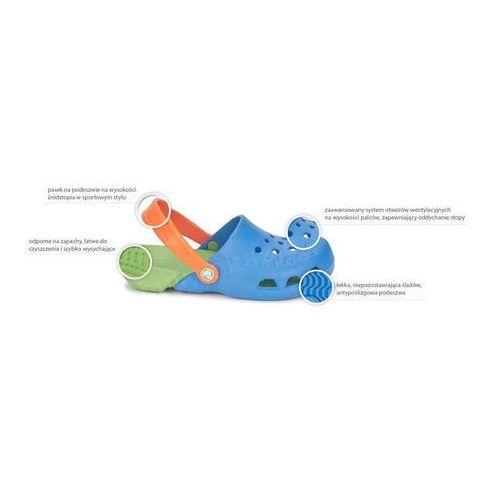 wyprzedaż w sprzedaży tanie z rabatem moda Crocs Kids Electro Sea Blue Lime Niebiesko-zielone klapki ...