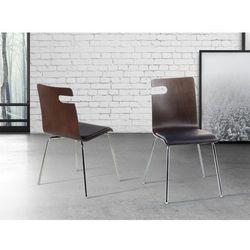 Krzeslo ciemnobrazowe - do jadalni - do kuchni - drewniane - BRONX