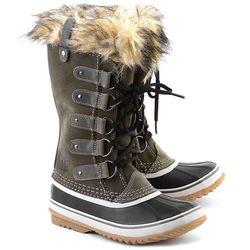 SOREL Joan Of Arctic - Oliwkowe Zamszowe Śniegowce Damskie - NL1540-383