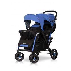 Easy Go Wózek dziecięcy bliźniaczy spacerówka Fusion Electric Sapphire