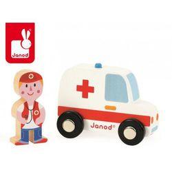 Ambulans z lekarzem zestaw drewniany, Janod