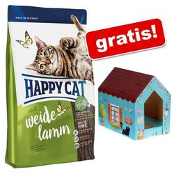 4 kg Happy Cat + Domek dla kota Butterfly z matą do drapania gratis! - Adult Light