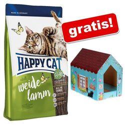 4 kg Happy Cat + Domek dla kota Butterfly z matą do drapania gratis! - Adult Sterilised