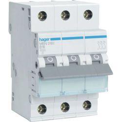 Hager MCB Wyłącznik nadprądowy Icn=6000A 3P C 20A MCN320E