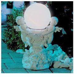 Dekoracyjna rzeźba z kulą solarną Anioły SOLAR