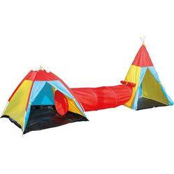 Namiot tipi z połączeniem tunelowym dla dzieci