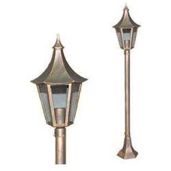 Zewnętrzna LAMPA stojąca SIGNO K-6010B BKGO Kaja klasyczna OPRAWA ogrodowa SŁUPEK IP44 outdoor patyna