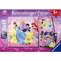 Puzzle Disney Księżniczki 3x49