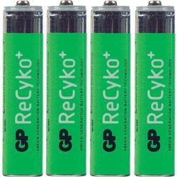 Zestaw 4 akumulatorów NiMH GP ReCyko+ AAA, 1,2V, 850 mAh