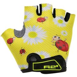 rękawice rowerowe R2 Voska Kid's - ATR08D/Yellow/Ladybug