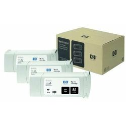 HP oryginalny ink C5066A, No.81, black, 3x680ml, 3szt, HP DesignJet 5000, PS, UV, 5500, PS