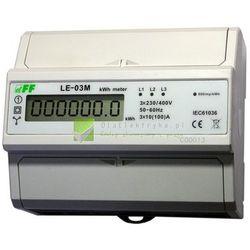 LE-03M LICZNIK ENERGII ELEKTRYCZNEJ - TRÓJFAZOWY, RS-485 MODBUS, WYŚWIETLACZ LCD, KL.1, 3X10(100A) (LE-03M)