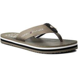 c0373890b49d0 Japonki TOMMY HILFIGER - Essential Stripe Beach Sandal FW0FW02378  Cobblestone 068