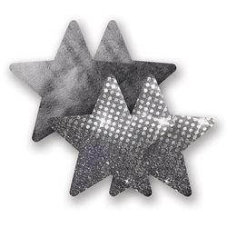 Nakładki na sutki bieliźniane - Nippies Solid Nightfever Star