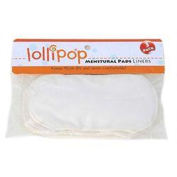 Wielorazowe Wkładki Higieniczne z Bawełny Organicznej, 3Pak, LOLLIPOP