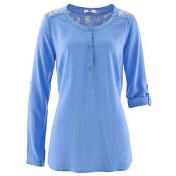 Tunika z długim rękawem bonprix niebieski