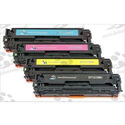 Komplet tonerów zamienników DT1215KPLH do HP Color LaserJet CP1210 CP1215 CP1215n CP1217 CP1510 CP1510j CP1510n CP1515 CP1515n CP1518 CP1518ni CM1312 CM1312mfp, pasuje zamiast HP CB540A CB541A CB543A CB542A 125A CMYK, 2200/1400 stron